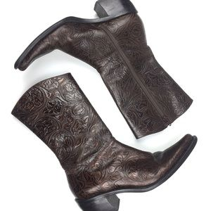 Gianni Bini | Floral Embossed Western Boots